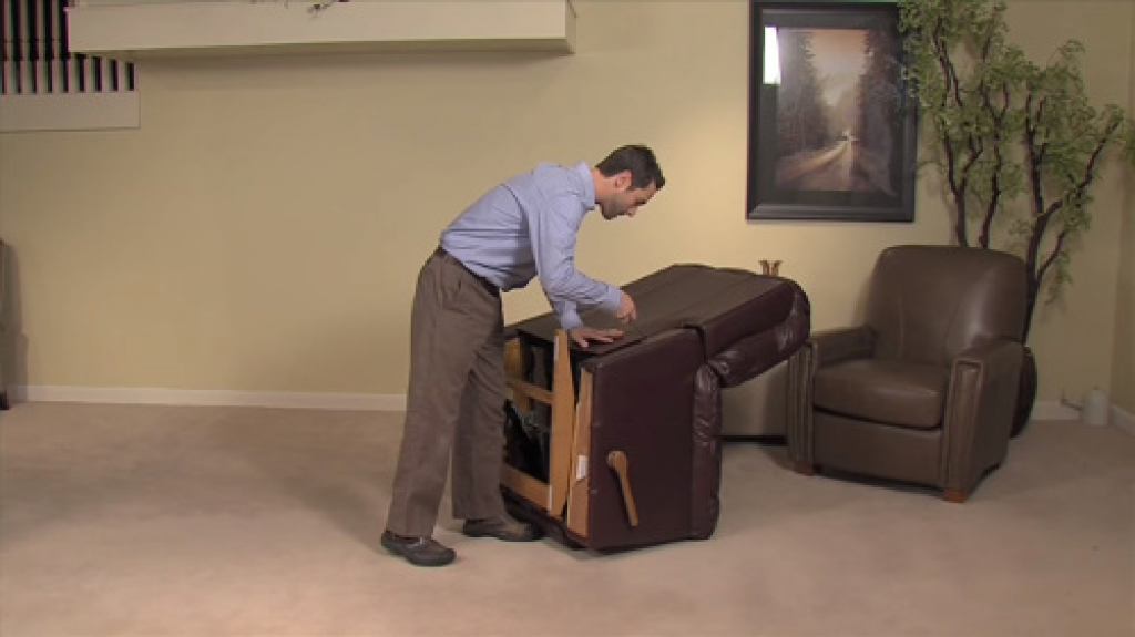 how to remove a back of a recliner